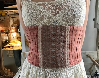 Cinnamon Lace Corset by Restored By Design