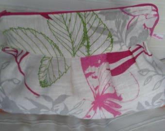 Toiletry bag in linen and coton