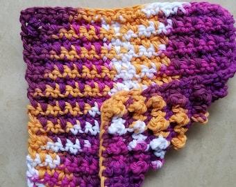 Dish Cloth, Crocheted, Dual-sided, Multi-Use