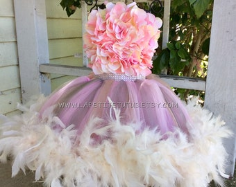 Double layer floral dress, girls tutu, toddler tutu, pageant tutu, flower girl dress, tulle tutu, flower girl dress tulle, girl clothing