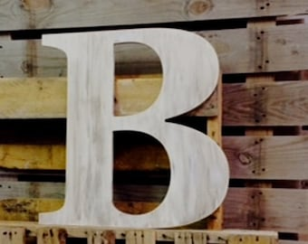 Large Wooden Letter | Guest Book Letter | Quick Ship Avail | Wooden Captial Letter  | Wooden Wall Art | All Letters Avail from this listing
