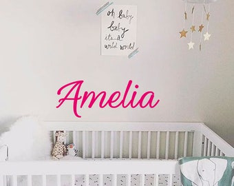 Girl Name wall decal-Name decals-Nursery wall decal-Nursery name decal-Nursery decor-Wall decals for girls-Personalized decals-Nursery vinyl