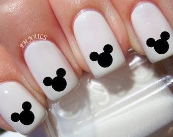 36 Mickey Mouse Ears Nail Decals
