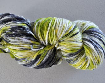 Lime Cordial.  Handpainted Superwash Merino Yarn 1 ply Worsted Weight
