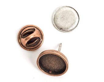 Jewelry Kit for Embroidery Lapel Pin Mini Circle - Copper