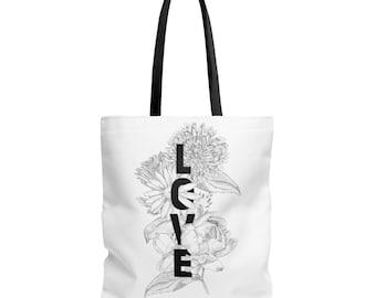Floral Love Tote Bag