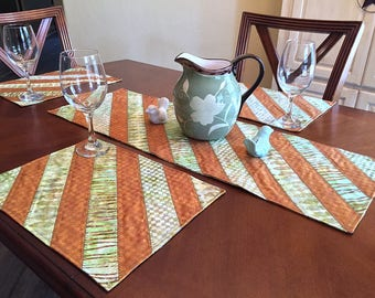 Spring Sprouts Table Runner / Placemats (Set of 4)