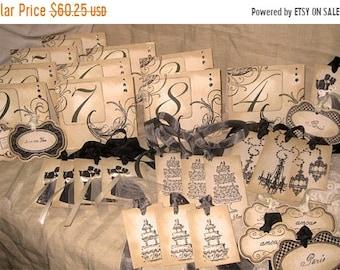 Wedding Sale Vintage Style French Elegant Luxury Table Numbers/Names Wedding Original Design From VintageParisMarket