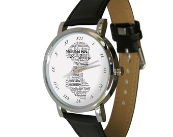 Jane Austen design watch. great gift for any Jane Austen fan
