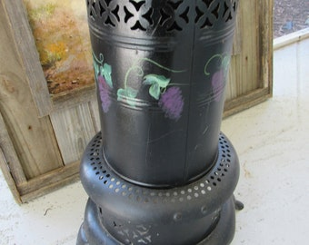 Vintage Perfection 925 Kerosene Oil Heater, Artist Painted Decor
