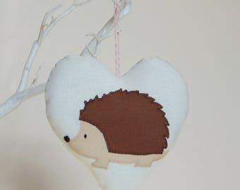 Hedgehog decoration - Cute Hedgehog fabric decoration- Decorative Woodland decoration  - Woodland nursery decor