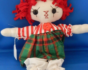 Rag Doll, Raggedy Ann. primitive doll, cloth doll
