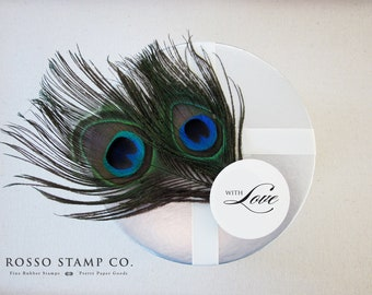 With Love Stamp - Gift tag stamp - Wedding Stamp - Holiday Stamp - Christmas Stamp