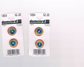 4 - 18mm Plastic Rainbow Buttons