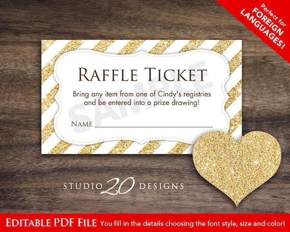 diy raffle ticket template