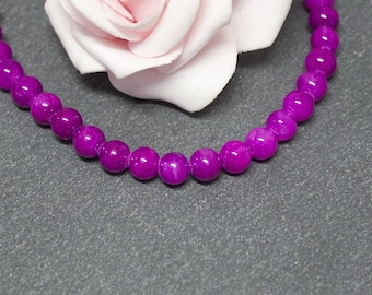 10 PEJ21 purple 6 mm Mashan jade beads