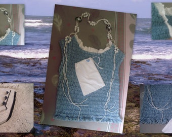 UPCYCLED bag and pouch for the beach...