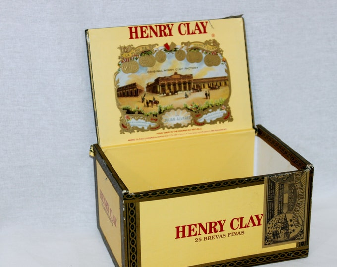 Vintage Henry Clay La Romana Wooden Cigar Box, Dominican Republic
