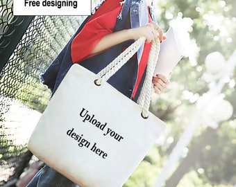 Personalized canvas bag,Design Your Own Tote Bag,custom with your pictures or logo,mothers day gift