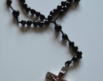 crochet black wire (ref 17) Rosary chain