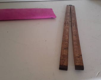 Vintage Stanley Boxwood Folding Ruler #68