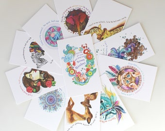 15 Packets of Mummy Mantras | Wholesale | positive affirmations | watercolour | cards | naomi claire | mummy mantras |