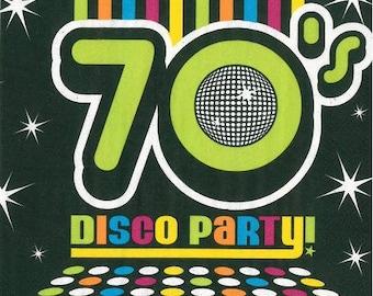 disco party (288) napkin