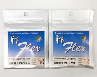 2pcs set PMC Flex 15g, Slow Dry Silver Metal Clay, Precious metal clay, Jewelry Making