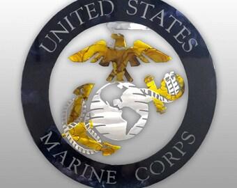 USMC Emblem Single Plate