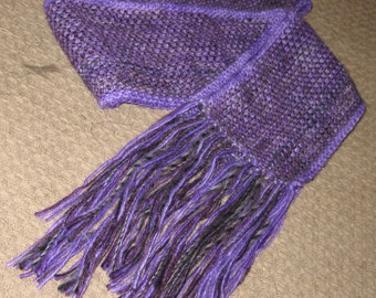 Purple Twilight Scarf in Linen Stitch