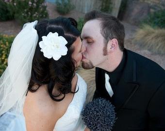 Ivory Gardenia Bridal Hair Clip