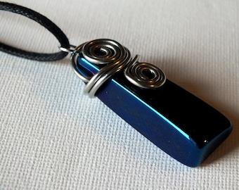Polished Cobalt Agate Necklace