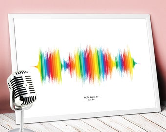 Print your favourite song,wall hanging,sound waves,sound wave art,soundwave,soundwave art,wave art decor,art print,wall decor,wave art N.02