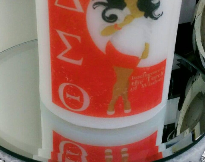 Delta Candle Sigma Theta Sorority Candle, logo candle, personalized candle, birthday gift, anniversary gift