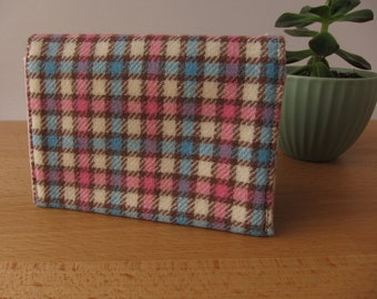 Country Club Vintage Wool Plaid Card Case