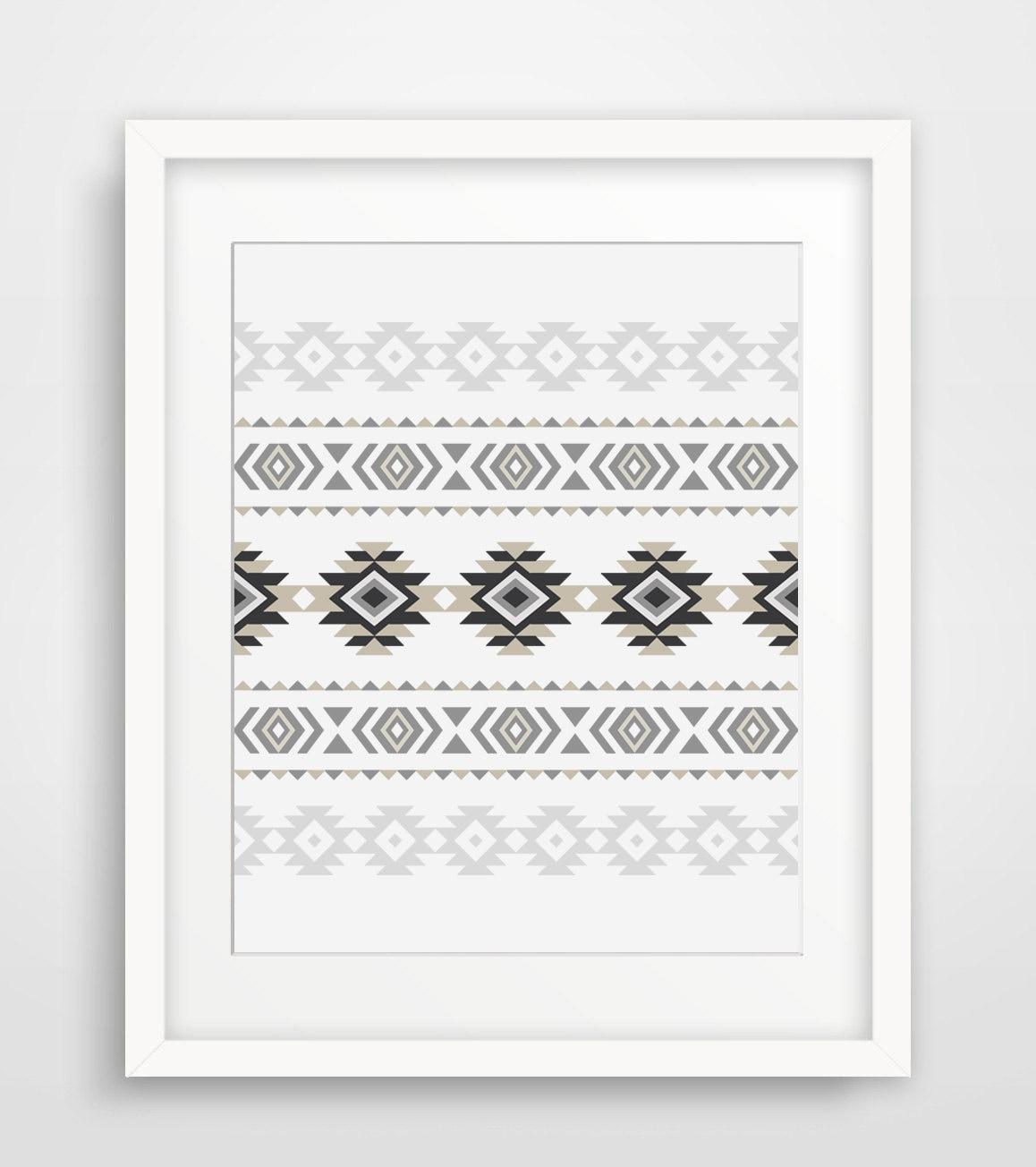 Aztekische Wand Print druckbare moderner Hauptdekor