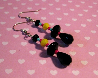 Funky Colorful Abstract Dangle Earrings