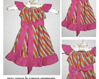 INSTANT DOWNLOAD The Amelia Dress PDF Sewing Pattern By Hadley Grace Designs - Includes Sizes Newborn up to Size 14