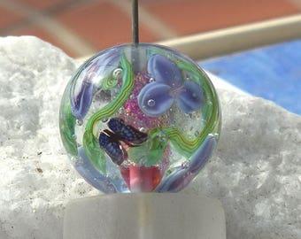 Flutter  - Lampwork Beads - Butterfly Focal Bead