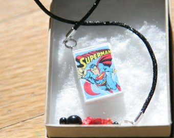 Superman Comic Book book charm bookmark