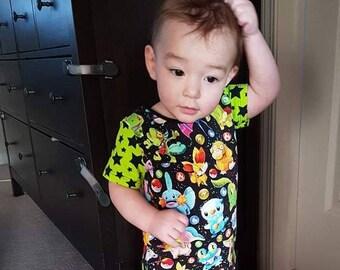Pokemon Shirt, Boys Clothing, Pokemon Kids Shirt, Kids Clothing, Kids T-shirt, Short Sleeve, Baby Boys Shirt, Toddlers Clothing, Girls Tops