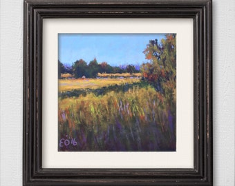 "Original Pastel Painting ""Summer Evening"""