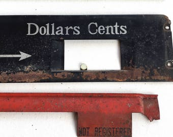 National Cash Register Window Cover Arrow Salvage Part
