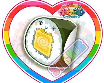 Kawaii Cute Tomago Sushi Roll Piece Sticker