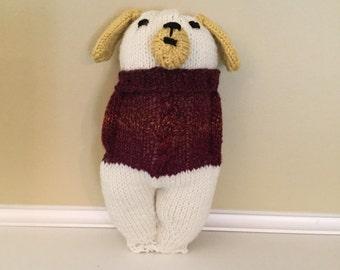 Soft sculpture stuffed dog