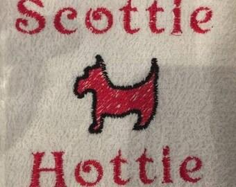 Scottie Hottie bar towel