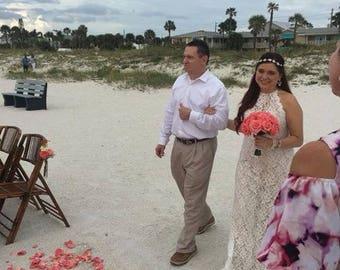 TRUE TOUCH ROSE-coral Wedding- coaral flowers- Wedding Flowers- Bridal Bouquet- Coral Bouquet- Beach Wedding-Coastal Wedding