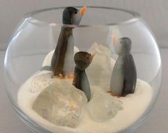 Glass  Penguin Bowl