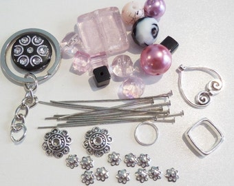 Sale! Complete DIY Cluster Keychain Kit. All items in photograph included P47