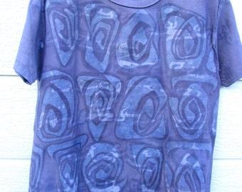 "Batik HandMade T-Shirts""Purple Morroco"" M size -One&Only-"
